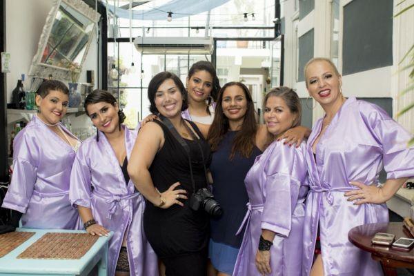 As modelos e parte da equipe do Segredos de Diva