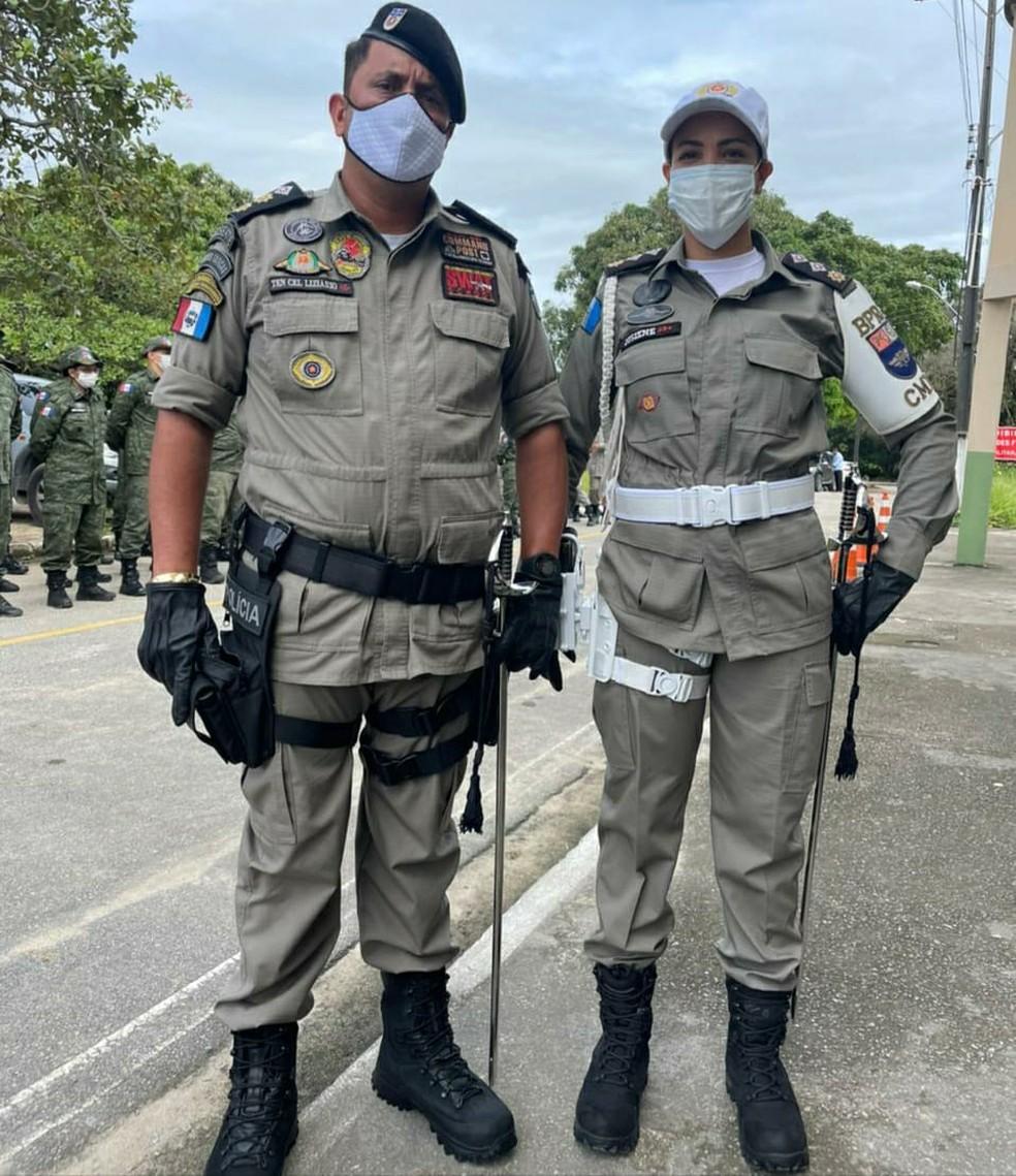 Tenente-coronel Liziário passa o comando do BPRv-AL para a major Josiene Lima — Foto: Assessoria/BPRv
