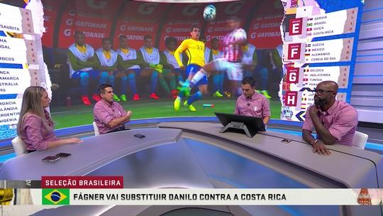 """Ana Thais destaca a entrada de Fagner como titular: """"A Seleção ganha bastante"""""""