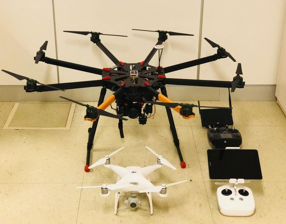 Drones que serão usados pelo MP do DF na fiscalização de áreas ambientais (Foto: MPDFT/Divulgação)