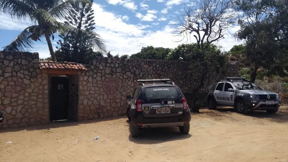 PM aposentado foi morto com um tiro durante uma briga em um bar no conjunto San Vale — Foto: Ediana Miralha/Inter TV Cabugi