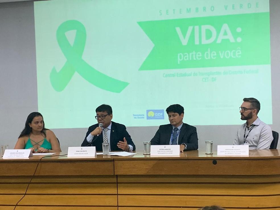 Secretaria de Saúde do DF lança campanha Setembro Verde — Foto: G1 DF