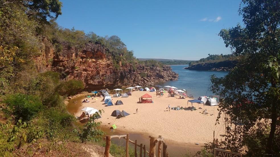 Praia do Paredão, em Miracema do Tocantins (Foto: Vilma Nascimento/G1)