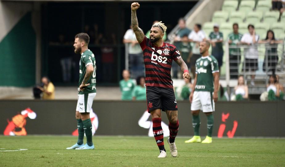 Análise: sem fazer força, Flamengo ratifica superioridade sobre o Palmeiras no embalo de Gabigol