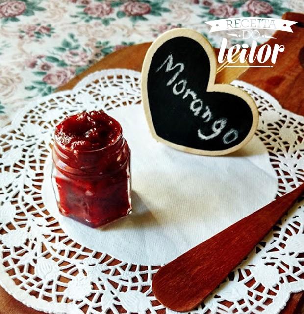 Receita de geleia de morango e balsâmico da leitora Marcella Rodrigues (Foto: Marcella Rodrigues/Divulgação)