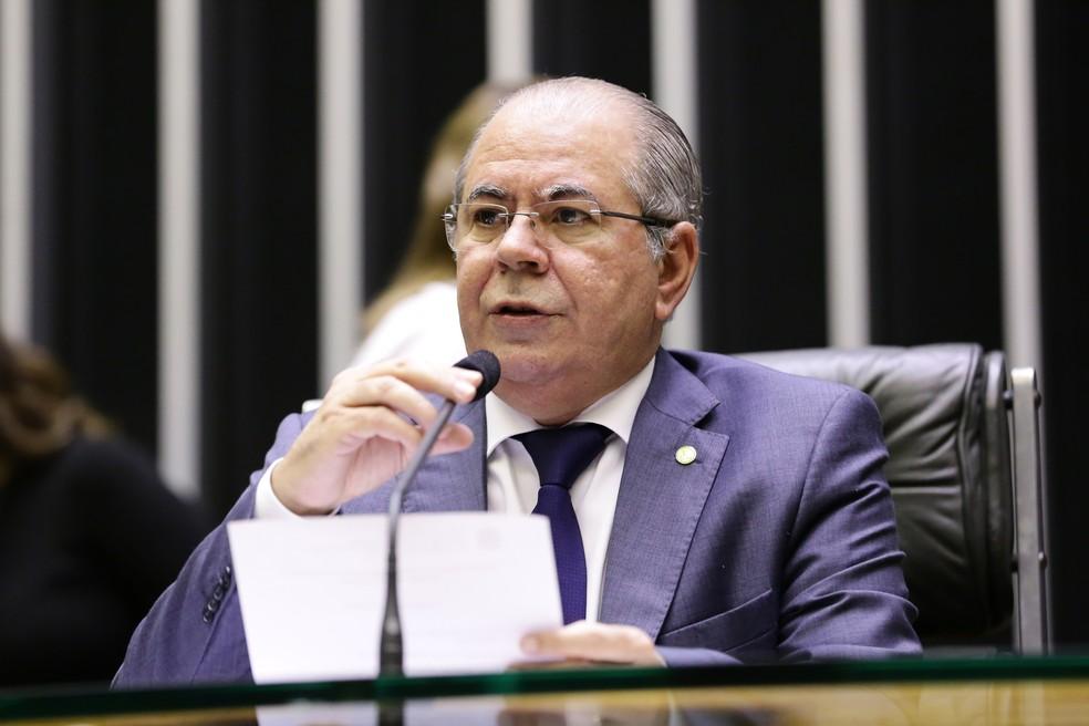 Deputado federal Hildo Rocha (MDB-MA), relator na CMO de projeto que libera crédito extra ao Executivo — Foto: Michel Jesus/ Câmara dos Deputados