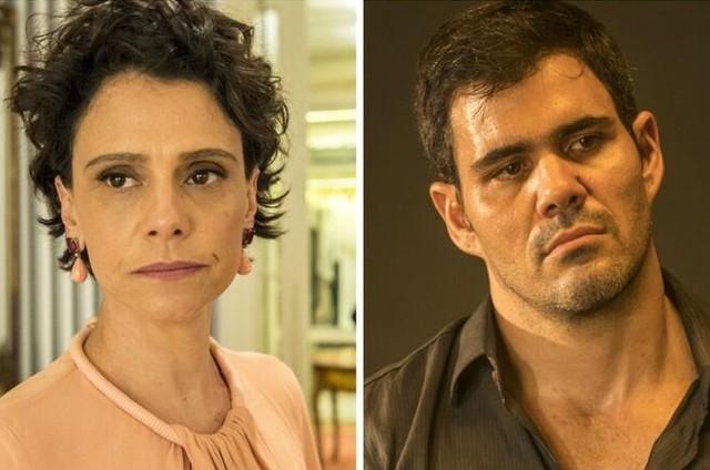 Malu Galli e Juliano Cazarré são Lídia e Magno em 'Amor de mãe' (Foto: TV Globo)