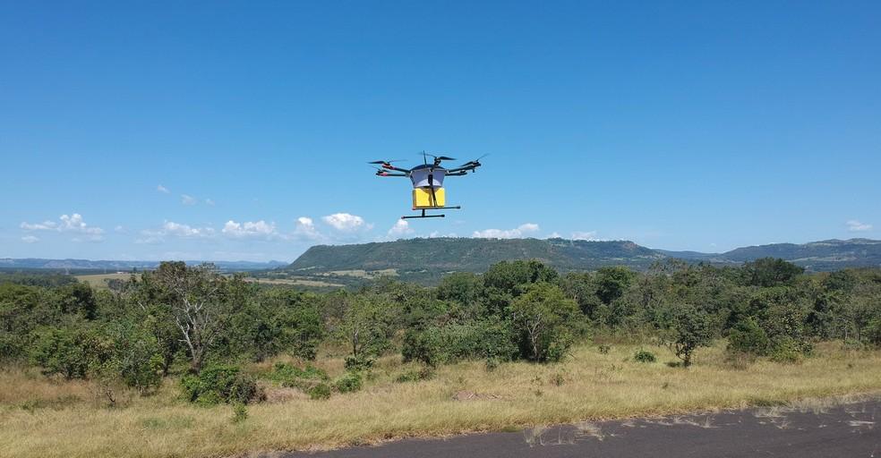 Serviço de entrega será feito em zonas de aterrissagem seguras  — Foto: Divulgação/SMX Systems