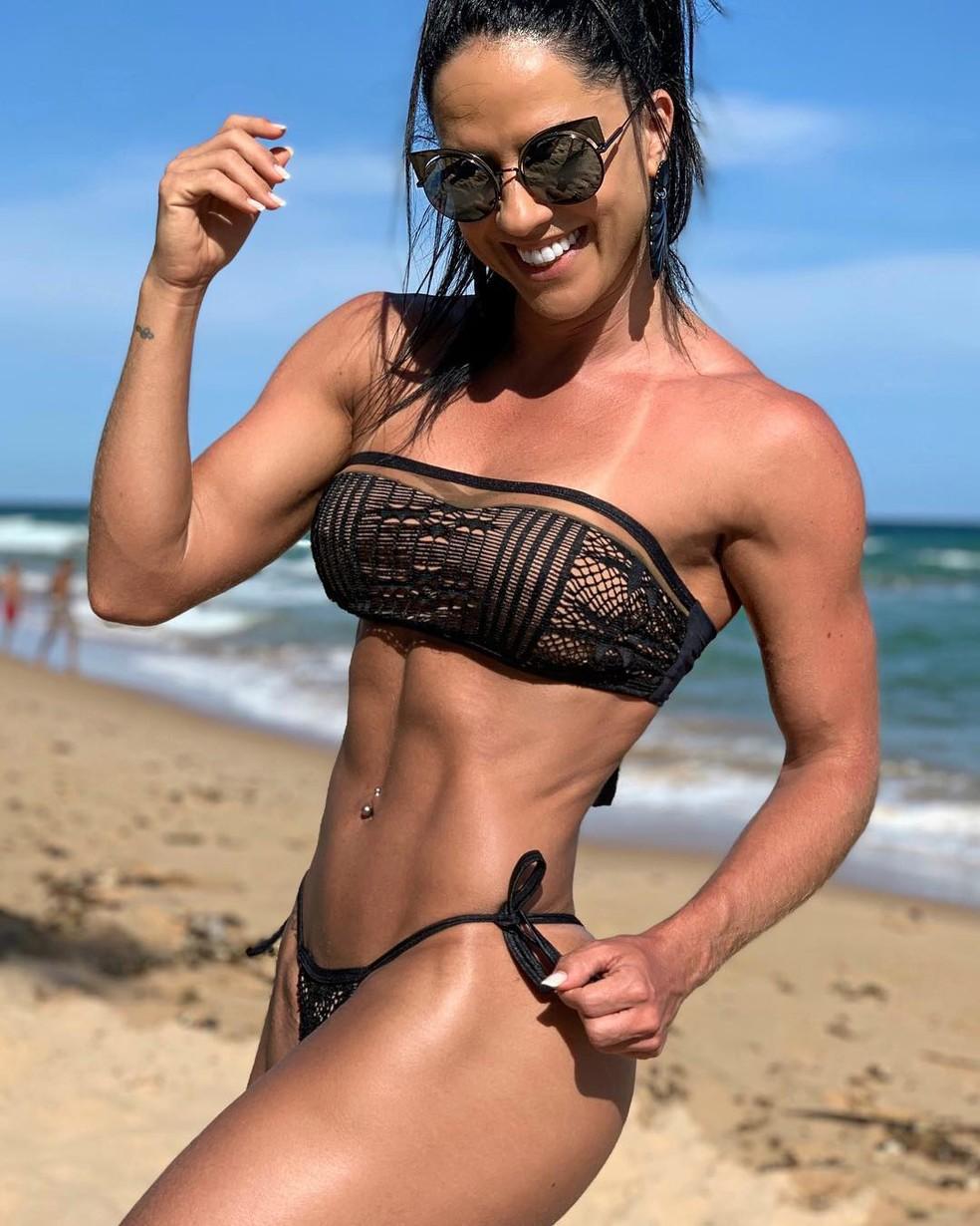 Graciele Lacerda esbanja seu corpo definido â?? Foto: Reprodução/Internet