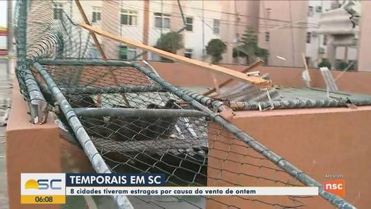 Após ventania, consumidores de cidades da Grande Florianópolis continuam sem luz