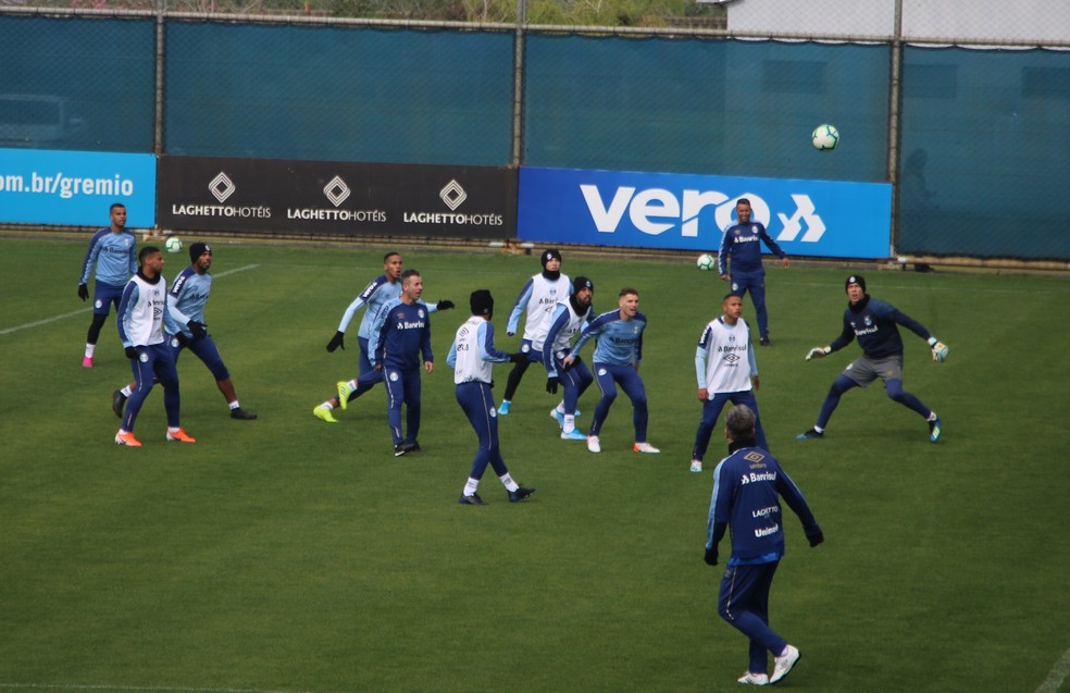 Grêmio está pronto para jogo contra o Athletico — Foto: Eduardo Moura