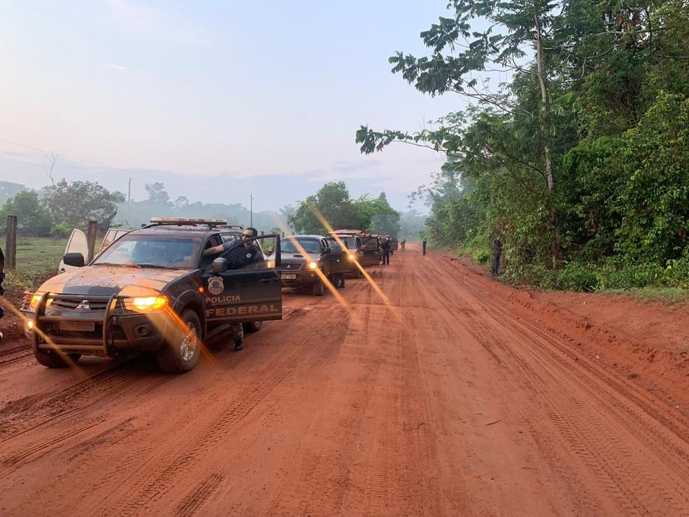 Operação da Polícia Federal mira grupo que extraía e vendia ouro ilegal da Amazônia em Mato Grosso — Foto: Polícia Federal de Mato Grosso/Assessoria
