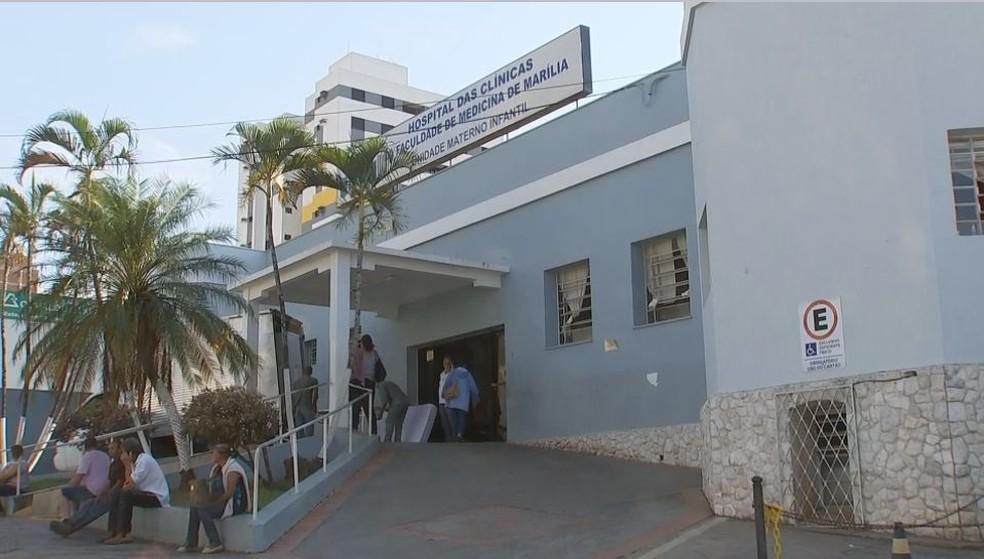 Menina de dois anos estava internada desde o último sábado (23) em hospital de Marília (Foto: Reprodução / TV TEM)