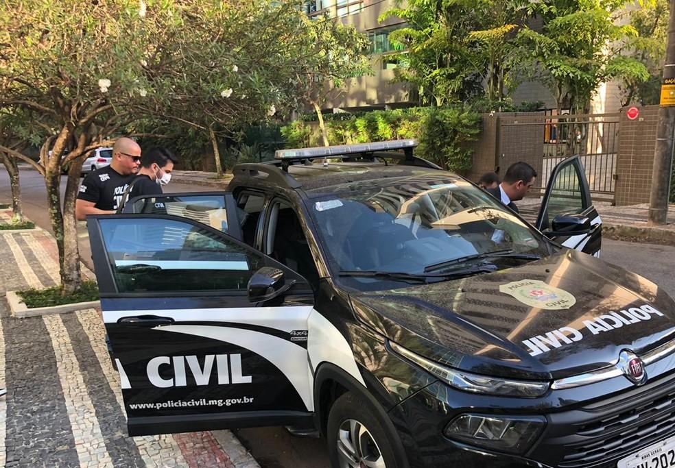 Operação da Polícia Civil, em Belo Horizonte — Foto: Danilo Girundi/TV Globo