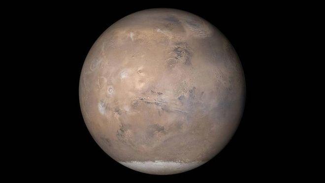 Desde 2003 Marte não fica tão próximo da Terra (Foto: NASA/JPL/MALIN SPACE SCIENCE SYSTEMS (Via BBC Brasil))