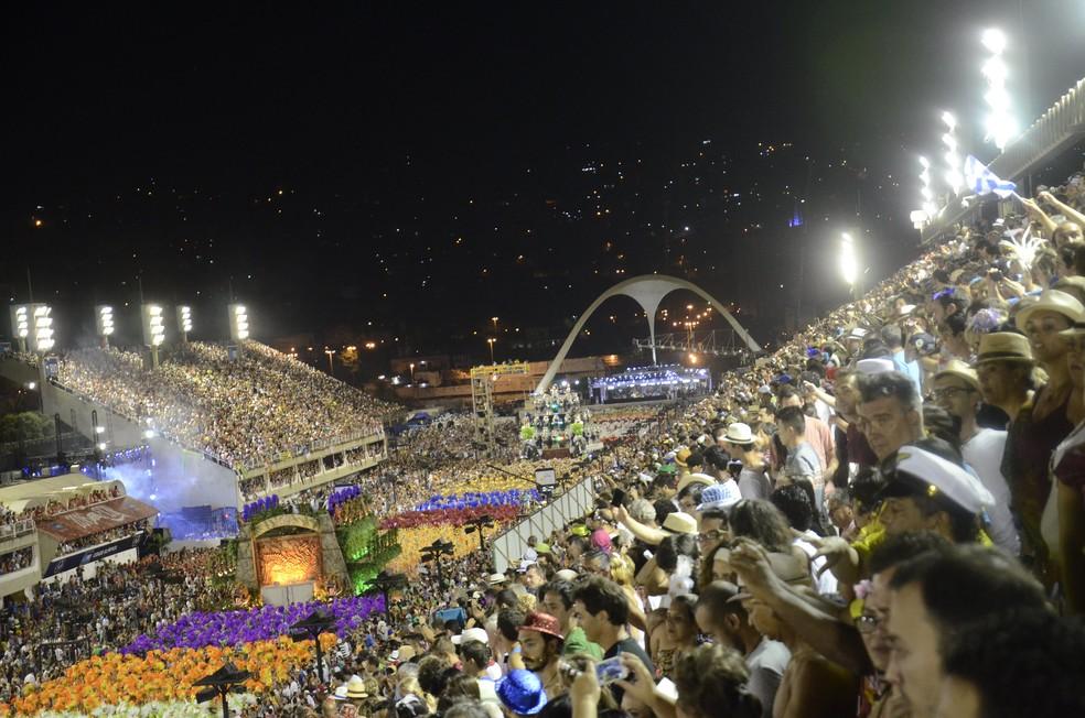 Marquês de Sapucaí lotada no desfile da Portela de 2016 — Foto: Alexandre Macieira/Riotur/Divulgação