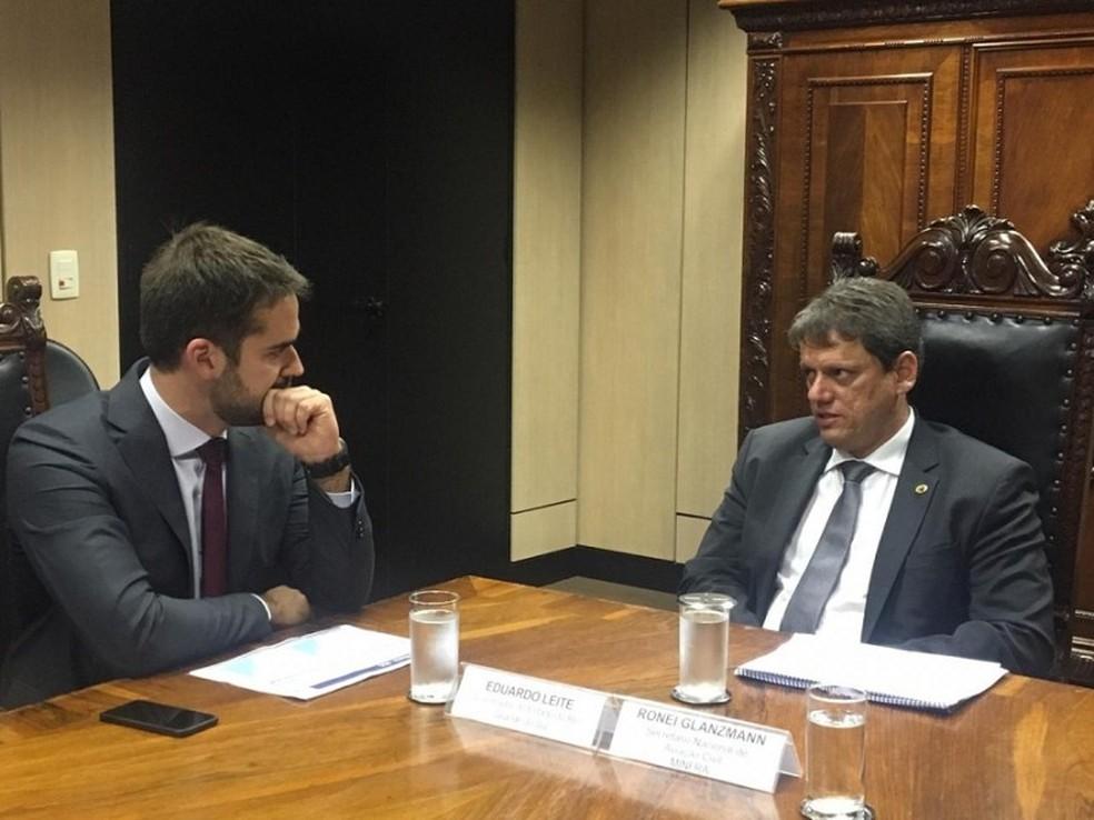 Eduardo Leite se reúne com ministro da Infraestrutura em Brasília — Foto: Ascom SERFI/Divulgação