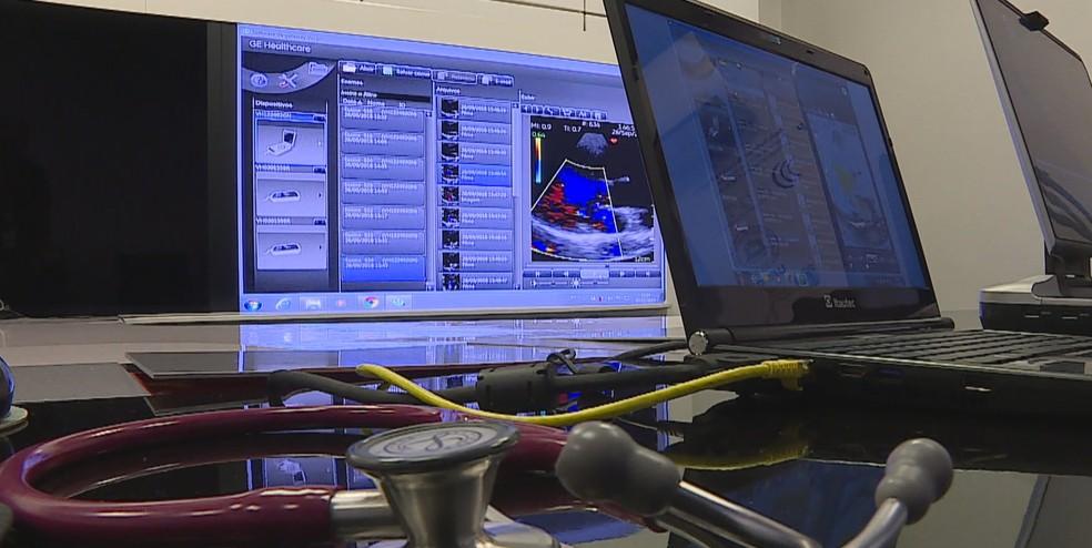 Telemedicina permite a análise online de exames — Foto: Reprodução/TV Globo