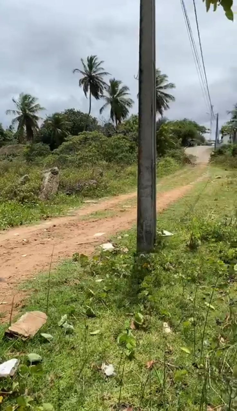 José Carlos foi visto pela última vez andando por este caminho, próximo ao Rio Doce, no bairro da Redinha, zona Norte de Natal. — Foto: Cedida
