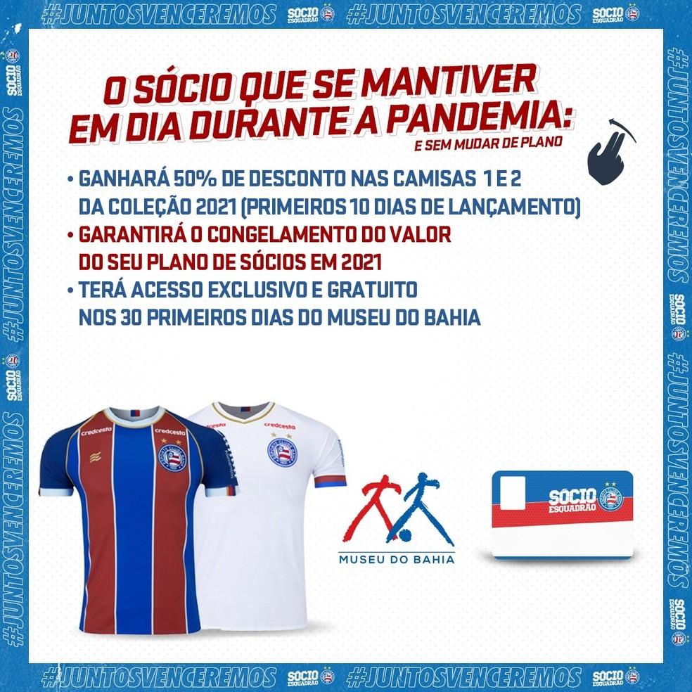 Bahia lança promoção para manter sócios em dia durante a pandemia — Foto: Divulgação/E.C. Bahia