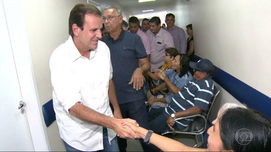 Paes promete replicar Hospital do Olho, de Duque de Caxias, em outros pontos do RJ