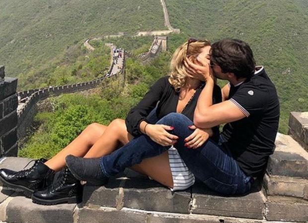 Kaká e Carol Dias (Foto: Reprodução)