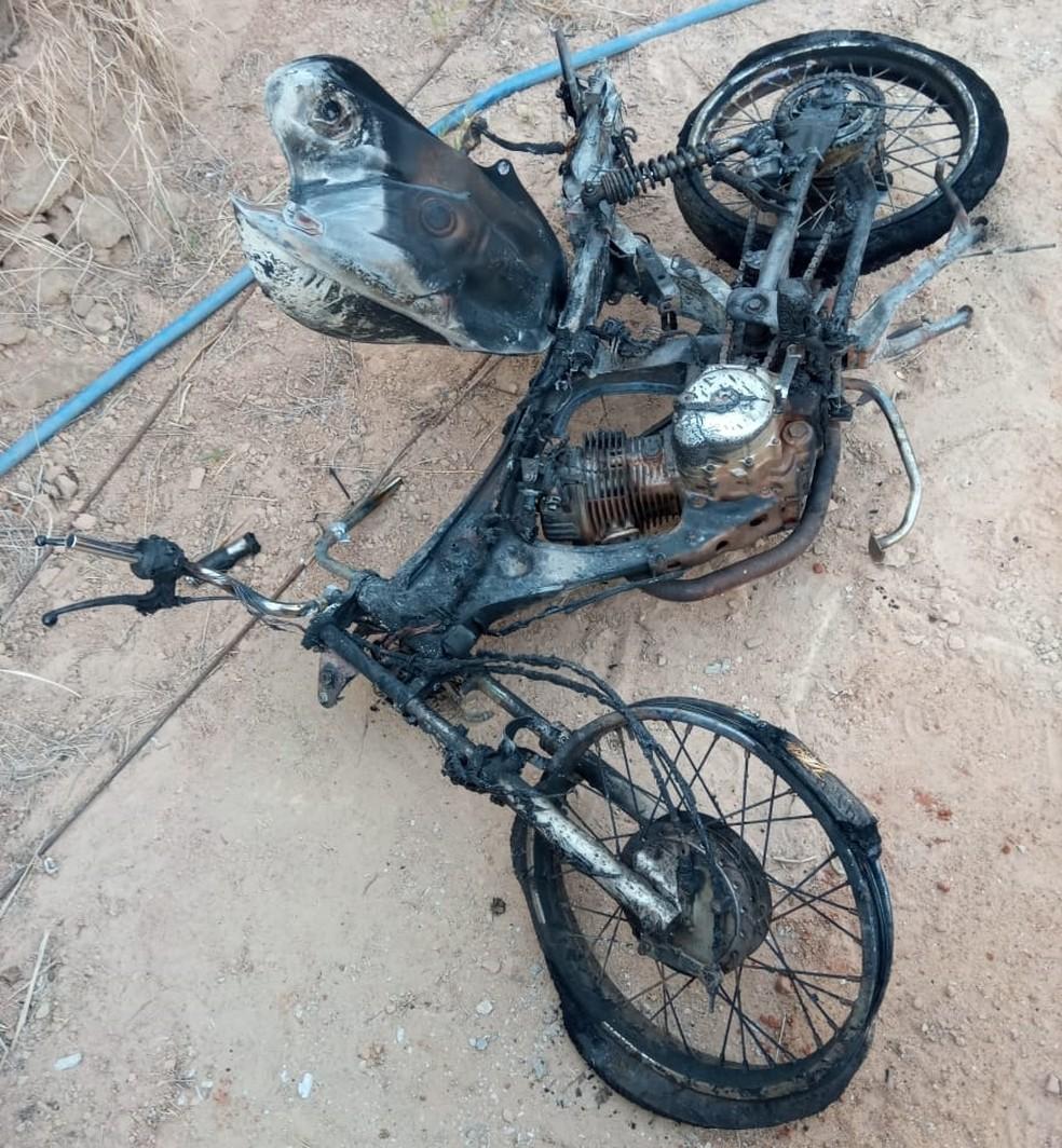 Moto foi levada para um sítio em Mirassol  — Foto: Arquivo Pessoal