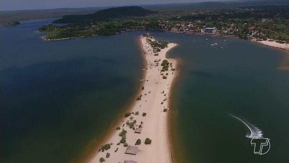 -  Vila de Alter do Chão, fica localizada a cerca de 30 km de Santarém, no oeste do Pará  Foto: Reprodução/TV Tapajós