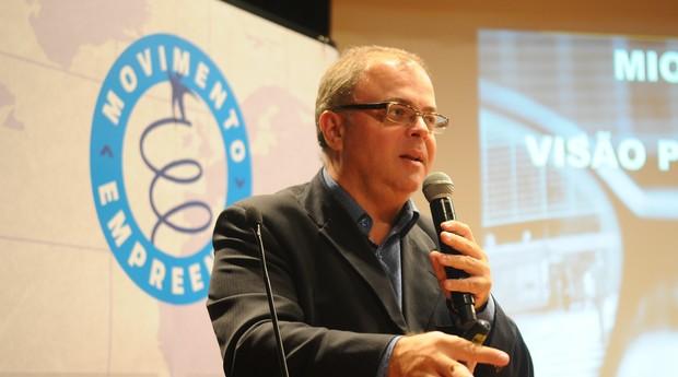 Cassio Spina, da Anjos do Brasil, fez uma palestra sobre o que os investidores buscam nos empreendedores (Foto: Rafael Jota)