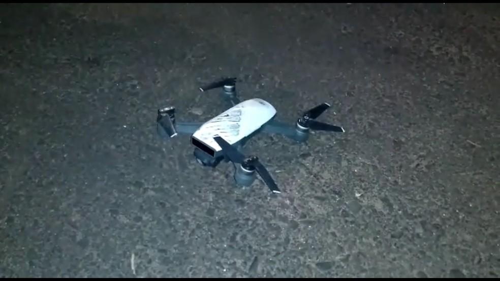 Criminosos teriam contado com auxílio de drone para monitorar policiais em Araçatuba (SP) — Foto: Arquivo pessoal