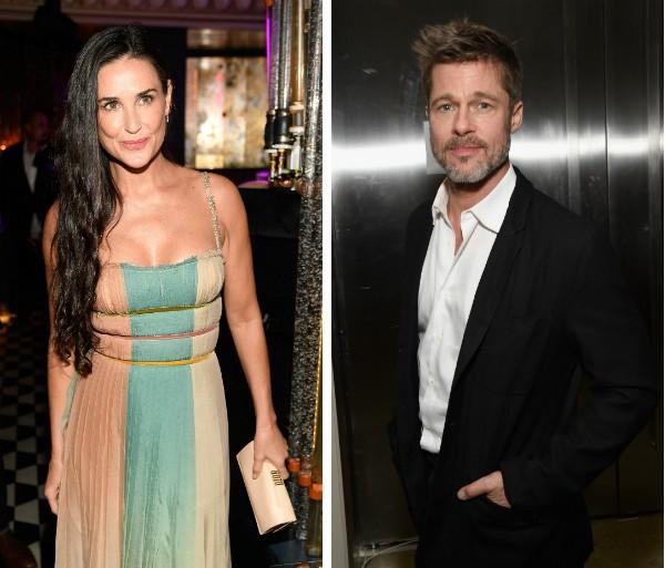 A atriz Demi Moore e o ator Brad Pitt (Foto: Getty Images)