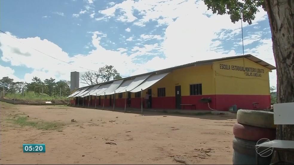 São 255 alunos divididos em cinco salas de aula (Foto: TVCA/ Reprodução)