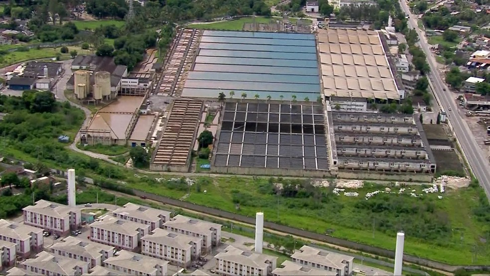 Estação de tratamento de água do Guandu, que abastece grande parte do Rio de Janeiro — Foto: Reprodução/ TV Globo