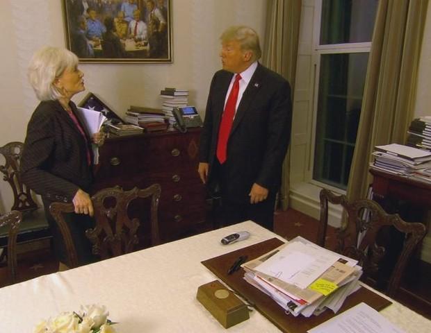 Quadro na sala de Donald Trump (Foto: reprodução)