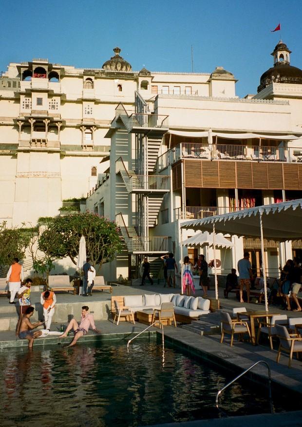 O recém-restaurado Raas Devigarh Hotel, na cidade de Udaipur (Foto: Philippe Kliot)