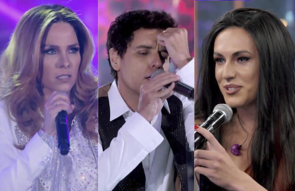 Wanessa Camargo, Thiago Arancam e Vitor Kley estreiam no 'Show dos Famosos' — Foto: Reprodução/Globo