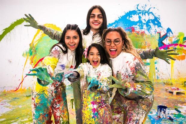 Eduarda Brasil, Mariah Yohana, Neto Junqueira e Talita Cipriano, finalistas do The Voice Kids (Foto: Globo / João Miguel Junior)