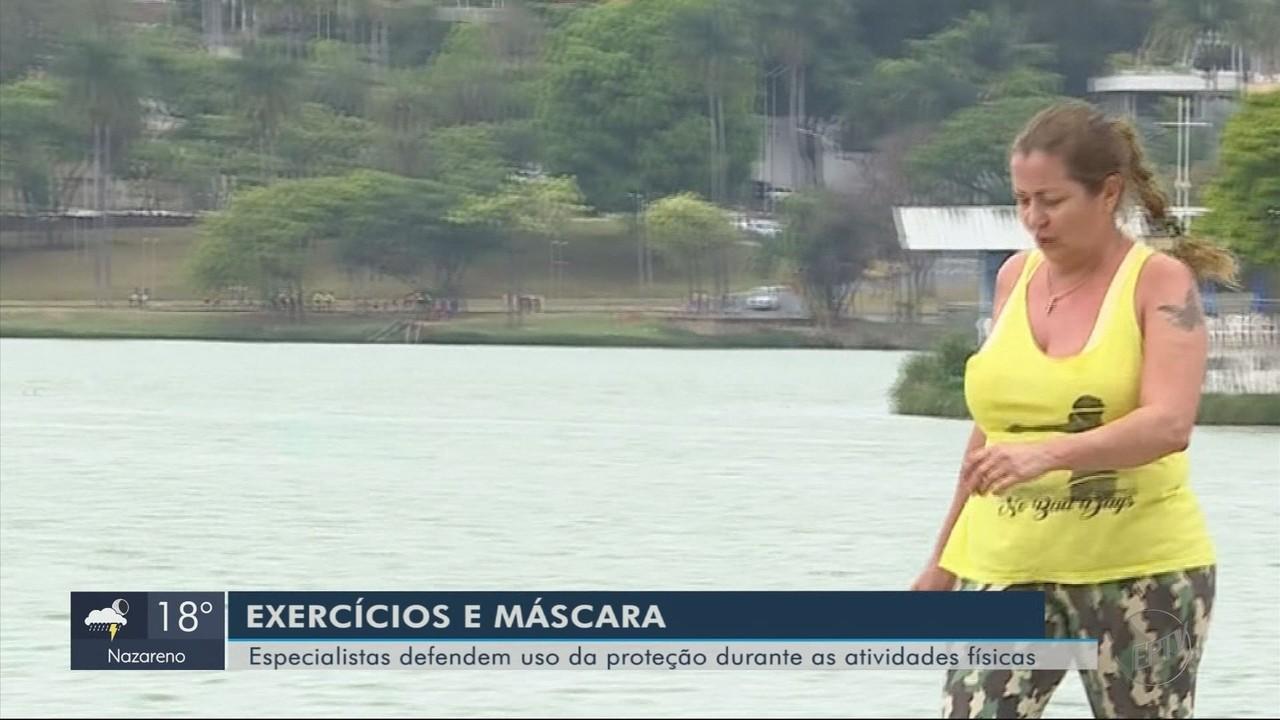 Especialistas defendem uso de máscaras durante atividades físicas