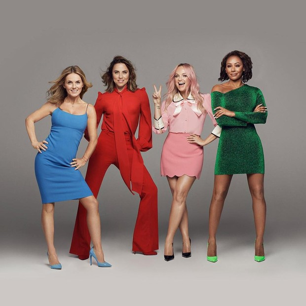 A primeira imagem oficial da nova turnê das Spice Girls   (Foto: Divulgação)