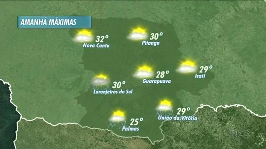 A sexta-feira vai ser de bastante calor na região de Guarapuava