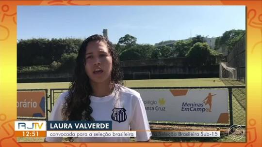 Jogadora de Angra que atua no Santos é convocada para seleção brasileira sub-17 pela primeira vez