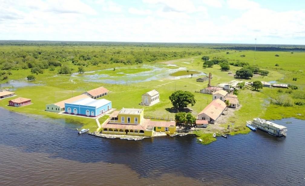 Fazenda Descalvados fica às margens do Rio Paraguai — Foto: Lenda Turismo/ Divulgação