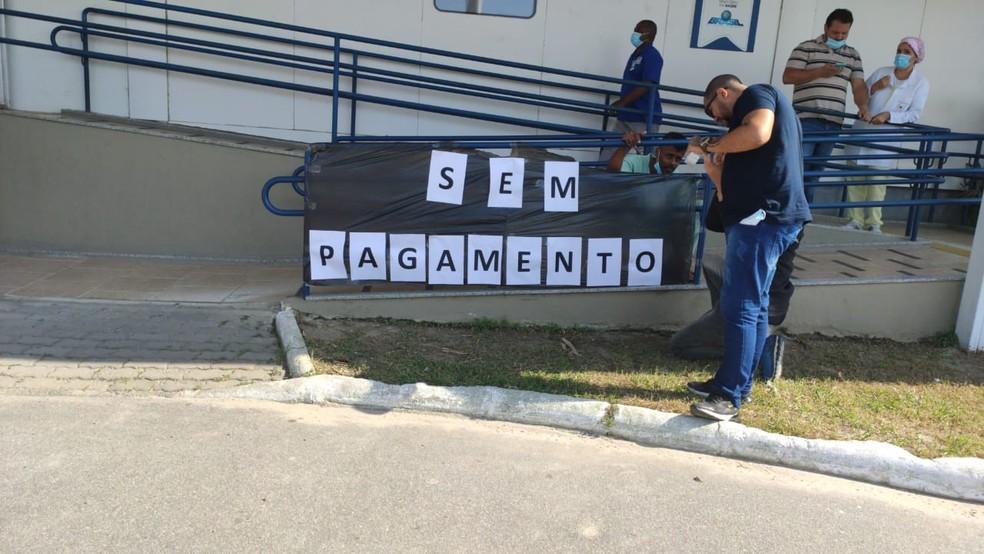 Funcionários de UPA pediátrica são dispensados após 4 meses de salários atrasados em São Pedro da Aldeia, no RJ — Foto: Arquivo pessoal