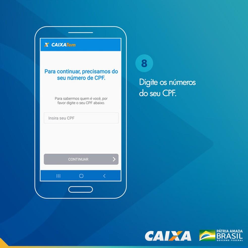Tela 8 para pedir abertura da poupança social digital — Foto: Divulgação Caixa