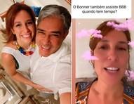 """Natasha Dantas diz que Wiliam Bonner assiste ao 'BBB': """"A gente adora"""""""