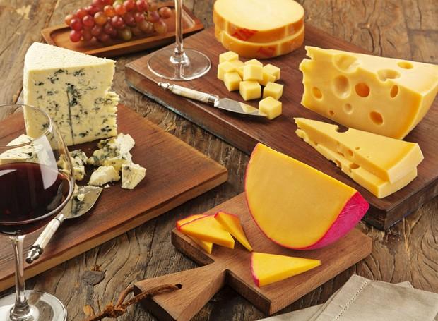 Diferentes tipos de queijo (Foto: Divulgação )