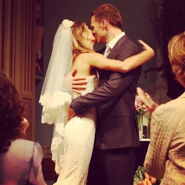 Foto postada por Tom Brady de seu casamento com Gisele (Foto: Reprodução)