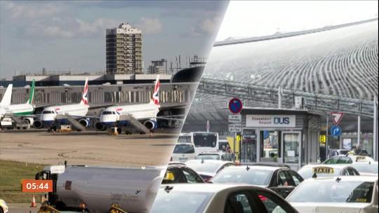 Avião que deveria ir para a Alemanha faz rota errada e pousa na Escócia