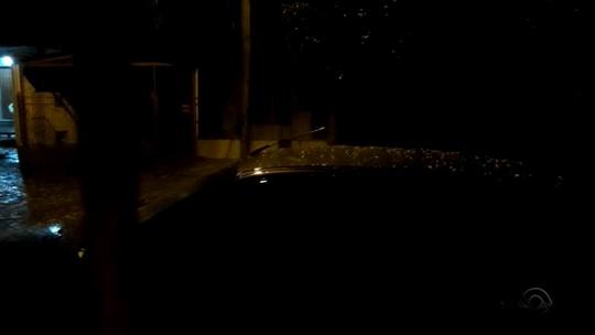 Granizo volta a cair em Santa Cruz do Sul