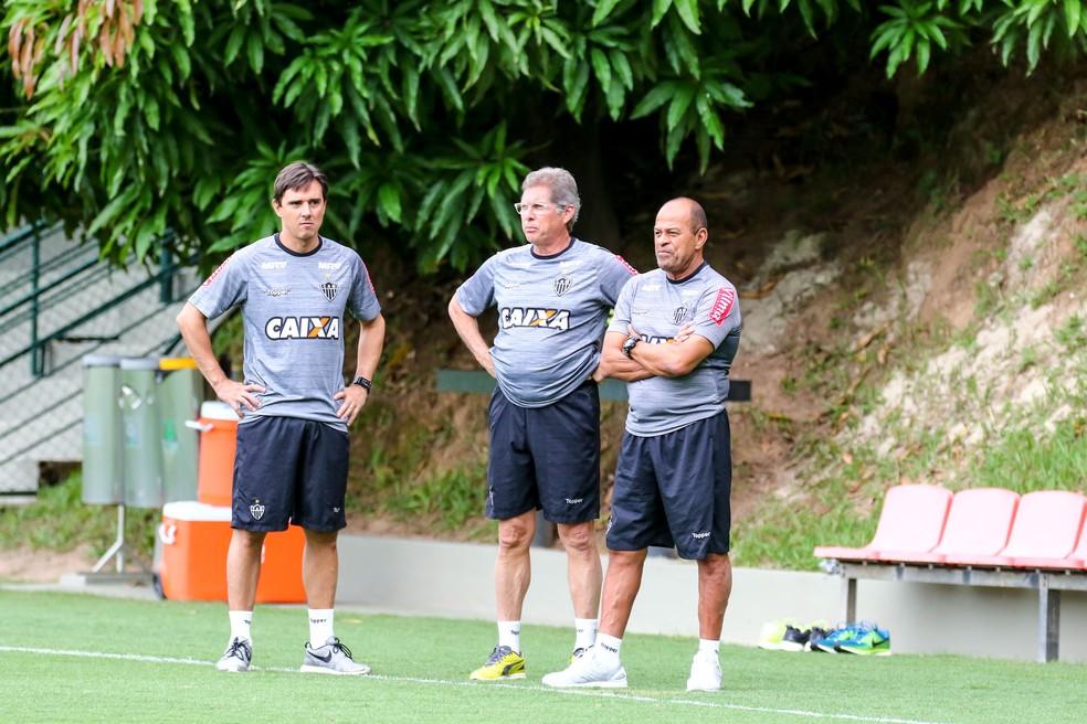 Thiago Larghi assumiu o posto de Oswaldo de Oliveira, demitido em fevereiro deste ano — Foto: Bruno Cantini/ Atlético-MG
